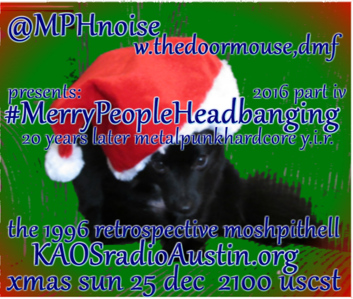 Merry People Headbanging edition of the Mosh Pit Hell – part four, the 1996 retrospective